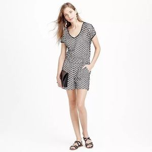 J crew • punched out eyelet shorts romper